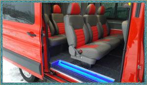 Форд Транзит красный салон